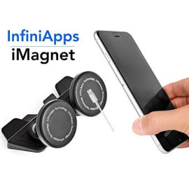 [Maker Of Imagnet] Car Mount, Infiniapps Duomount [Magnetic Mount]. The Original, Best Patented Cd Slot Mount, Iphone X 8 7 Plus 6S 6 5S 5 Se, Galaxy S8 S7 S6 Edge, Note 8 5 4 2 And Mini Tablets