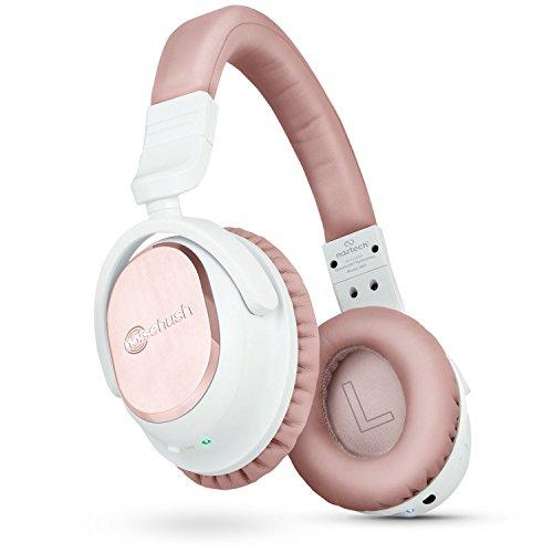 Naztech I9 Wireless Active Noise Cancelling Headphones. Up To 30 Hrs Playtime For Iphones, Smartphones, Tablets, Computers / Airplane Adapter Included