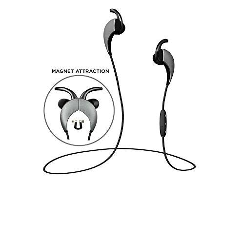 Wireless Sport Headphones, Bluetooth 4.1 Sweatproof Running Hd Stereo Earbuds, Built In Microphone Headset With Noise Cancellation For Iphone Samsung And Other Smartphones (Silver)