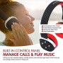 Ultra-Soft Viotek Nb-9 Wireless Bluetooth Headphones With Mic Headset Up To 45 Hours Playback, Noise Reduction, And Bass Drivers