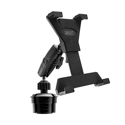 """Ibolt Tabdock Console - Heavy Duty Expandable And Adjustable Cup Holder Mount For All 7"""" - 10"""" Tablets (Ipad, Nexus, Samsung Tab). Great For Work, Personal, And Business Vehicles"""