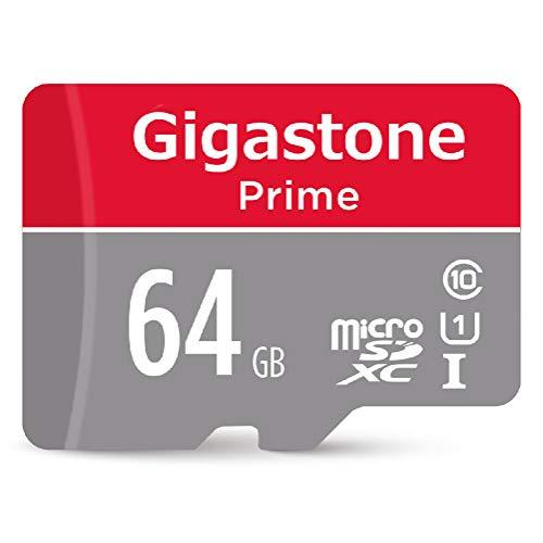 Gigastone 64Gb Micro Sd Card With Adapter, U1 C10 Class 10, Full Hd Available, Micro Sdxc Uhs-I Memory Card