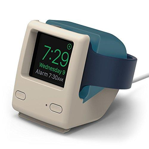 Elago W4 Stand (Aqua Blue) Compatible With Apple Watch Series 5, Series 4, Series 3, Series 2, Series 1, 44Mm, 42Mm, 40Mm, 38Mm - Nightstand Mode, Vintage 1998 Design [Patent Pending]