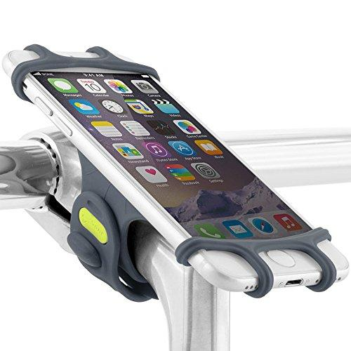 Universal Bike Phone Mount, Bicycle Stem Handlebar Cell Phone Holder For Iphone 8 7 6S Plus 5 Se Samsung Galaxy S8 S7 Note 6, 4 To 6 Inch Smartphone, Bike Tie Pro Series - Dark Blue