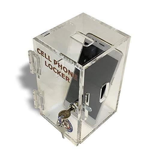 Wall Mounted Cell Phone Locker Storage Box Clear Acrylic