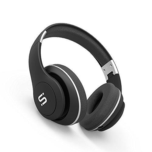 Somi Bluetooth Headphones With Built-In Mic, Hi-Fi Stereo, Wireless Headphones Overhead Headset, On Ear, Adjustable, Foldable + Wired Mode, Black