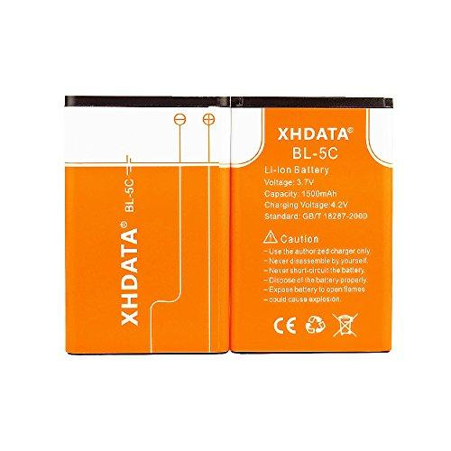 Xhdata Bl-5C 3.7V 1500Mah Rechargeable Battery For Radio(2 Pieces