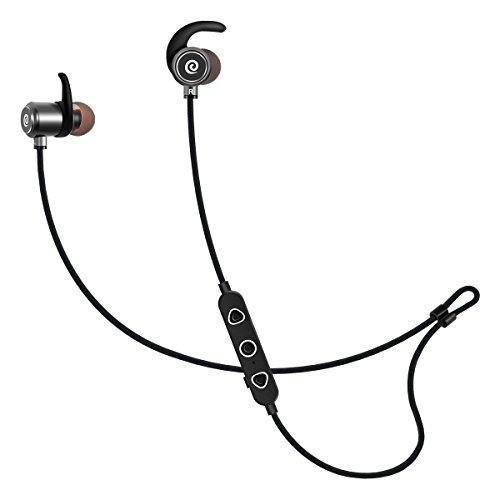 Elzo Bluetooth Headphones Ipx6 Water-Resistant, Wireless Earbuds Sport, Hifi Stereo In-Ear Magnetic Earphones With Mic, Carry Pouch, 9-10 Hrs Playback Noise Cancelling Headsets For Workout, Running