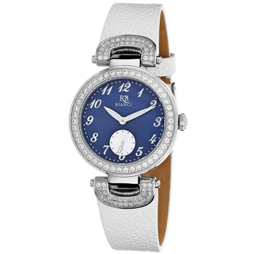 Roberto Bianci Watches Women'S 'Alessandra' Quartz Stainless Steel And Leather Casual Watch, Color White (Model: Rb0614)