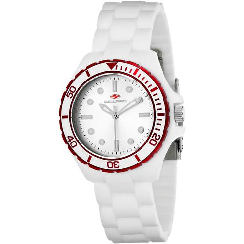 Seapro Women'S 'Spring' Quartz Stainless Steel And Silicone Casual Watch, Color:White (Model: Sp3215)