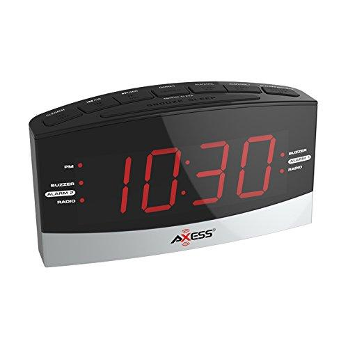 "1.8"" LED AM/FM Clock Radio with 2 Alarm"