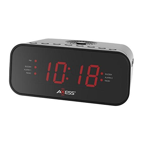 "1.2"" LED AM/FM Clock Radio with 2 Alarm"