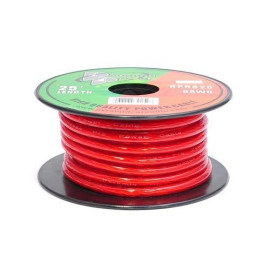 Pyramid RPR825 8 Gauge Power Wire 25 feet OFC (Clear Red)