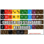 Learning Large Lettering (Upper Case) English Us Colored Keyboard Decals