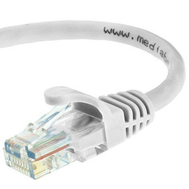 Mediabridge Ethernet Cable (100 Feet) - Supports Cat6 / Cat5e / Cat5 Standards, 550MHz, 10Gbps - RJ45 Computer Networking Cord (Part# 31-299-100B)