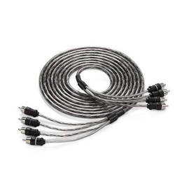 JL Audio XD-CLRAIC4-12 4-Channel Twisted-Pair Audio Interconnect Cable with Molded Connectors, 12-Feet