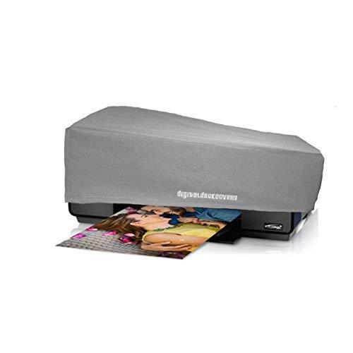 Printer Dust Cover for Epson Surecolor P600 ; Stylus Photo R3000 Printers [Antistatic, Water-Resistant, Heavy Duty Fabric, Silver] by DigitalDeckCovers