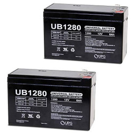 12V 8Ah UPS Battery Replacement for APC Back-UPS ES BE550G - 2 Pack