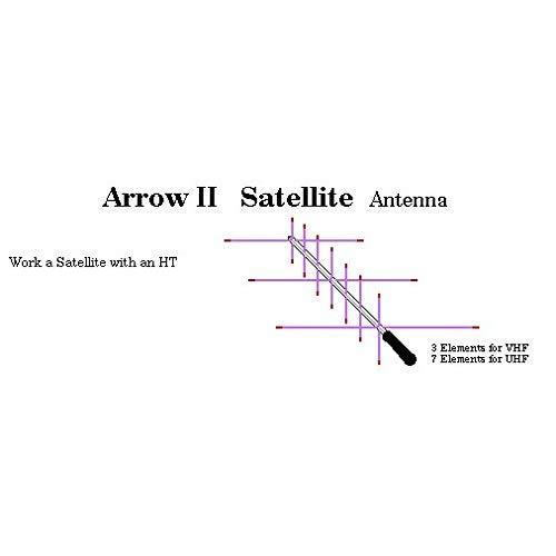 Arrow II Dual-Band Handheld Yagi, 3 Element Beam on 2 Meter, 7 Element Beam on 70 cm 146/437-10BP