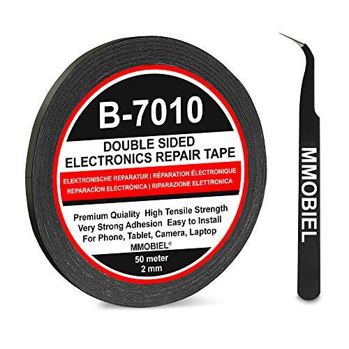 MMOBIEL 2 mm Double Sided Layer Strong Adhesive Tape 50 m Long Roll (Black) for Smartphone Tablet Repair