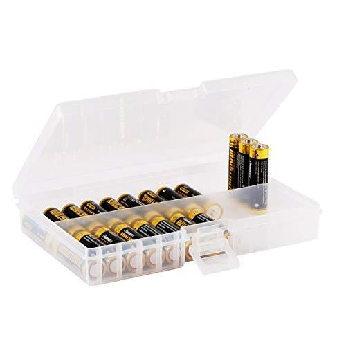 Whizzotech Aa Battery Storage Case Battery Holder Organizer Box Holds 48 Aa Bl01