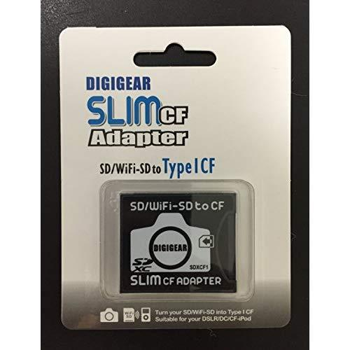 DIGIGEAR SLIM CF Adapter : SD SDHC SDXC WiFi-SD eyefi to Type I Compact Flash Card