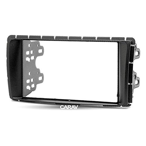 Carav 11-299 Double Din Car Radio Stereo Face Facia Fascia Panel Frame DVD Dash Installation Surrounded Trim Kit for Toyota Hilux, Fortuner 2011+ with 17398mm 178102mm
