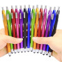 iPad Stylus,Skoloo 14 Pack 2 in 1 Slim Long Click Ink Stylus Ballpoint Pen For Universal Android Touch Screen Tablet Smartphone Apple iPad Mini iPhone,Google Nexus,Samsung Galaxy,HTC, Multi-colored