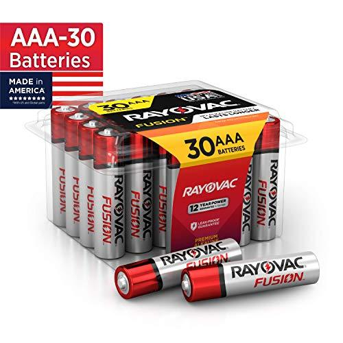 Rayovac Fusion AAA Batteries, Premium Alkaline Triple A Batteries (30 Battery Count)