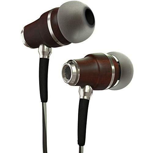 Symphonized Nrg 3.0 Earbuds Headphones, Wood In-Ear Noise-Isolating Earphones, Balanced Bass Driven Sound With Mic &Amp; Volume Control (Black Night &Amp; Hazy Gray)