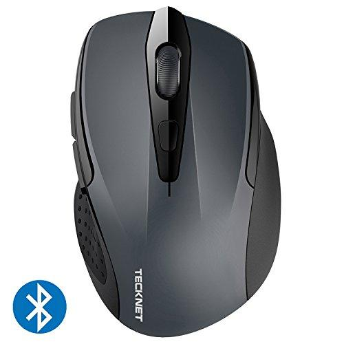 TeckNet 2600DPI Bluetooth Wireless Mouse, 12 Months Battery Life with Battery Indicator, 2600/2000/1600/1200/800DPI