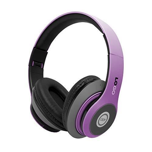 Ijoy Matte Rechargeable Wireless Bluetooth Foldable Over Ear Headphones With Mic, Edm