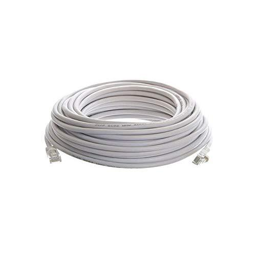 CableVantage New 100ft 30M Cat5 Patch Cord Cable 500mhz Ethernet Internet Network LAN RJ45 UTP For PC PS4 Xbox Modem Router White