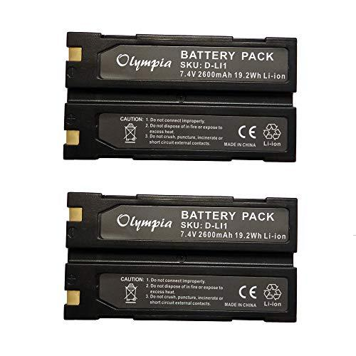 2 Pack Of Trimble 54344 Battery - Replacement For Trimble Tr-R8 Gps Battery (2600Mah, 7.4V, Li-Ion)