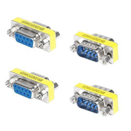Top-Longer Rs232 Serial Cable 9 Pin DB9 Female to Female/Male to Male Gender Changer Coupler Adapter Connector Pack of 4