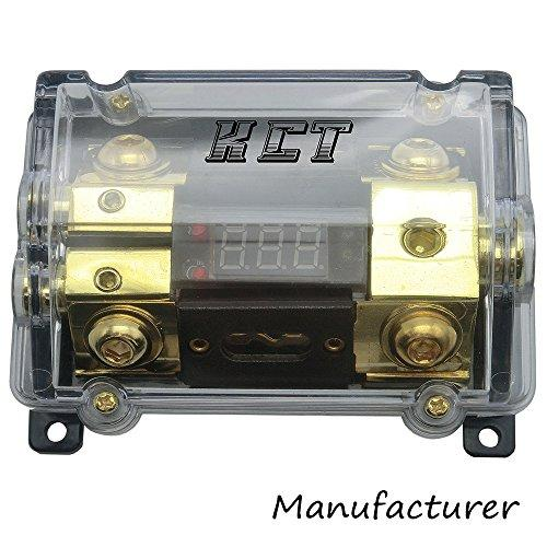 Car Audio Digital Led Display Fuse Holder ANL Include 2 Fuses Distribution block 1 way in 2 way out
