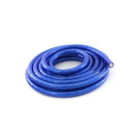 KnuKonceptz Bassik 0 Gauge Power / Ground Wire Cable Blue 25 foot coil