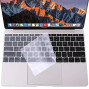 MOSISO Silicone Keyboard Cover Protective Skin Compatible with MacBook Pro 13 inch 2017 ; 2016 Release A1708 Without Touch Bar, MacBook 12 inch A1534, Clear