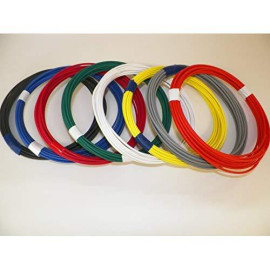 Automotive Copper Wire, TXL, 18 GA, AWG, GAUGE Truck, Motorcycle, RV, General Purpose. Order by 3pm EST Shipped Same Day (8 Colors 25' Each) (8 COLORS BY 25' EACH)
