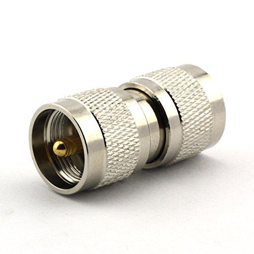 Maxmoral 2PCS UHF Male to UHF Male PL-259 PL259 Connector RF Coax Coaxial Adapter