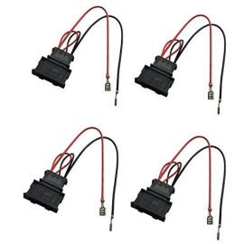 DKMUS 2 X Pairs Speaker Wiring Harness Wire Cable VW Passat Seat Golf Polo Speakers Adapter Connector Adaptor Plug