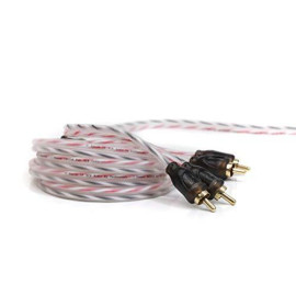 KnuKonceptz Bassik Twisted Pair RCA Cable 2 Channel 5 Meter RCA