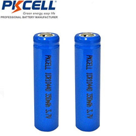 AAA 3.7V Rechargeable Battery 10440 Li ion 350mAh Button Top 2 Pack