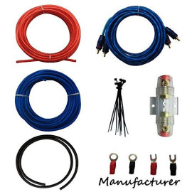 10 Gauge Amp Kit Amplifier Install Wiring Complete 10 Ga Installation Cables 600W ...