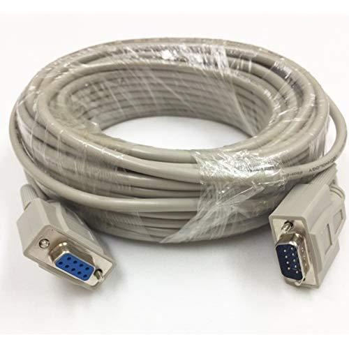 50 Foot Db9 Male To Female Rs232 Extension Serial Cable - 28 Awg Shielded