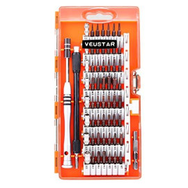 VEUSTAR Screwdriver Set, S2 Steel 60 in 1 with 56 Bits, Precision Magnetic Driver Kit, Professional Repair Tool Kit for Smart Phone/Computer/PC/Glasses/Laptop/Camera/Electronics Devices