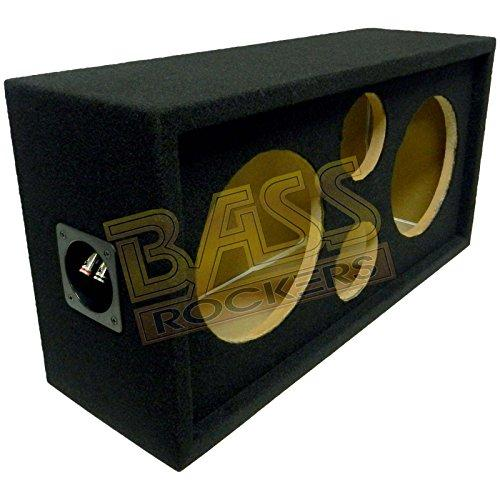 """Bass Rockers DJ Speaker Box for The Car, Home, Events and Shows - Fits Two 8"""" Speakers and Two 3.75"""" Tweeters - Makes Installs Clean and Super Easy BRCH8"""