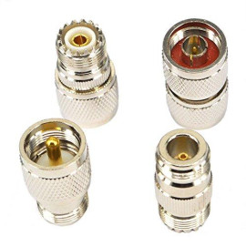 onelinkmore RF Coaxial Adapter Connector Kit N Male/Female to UHF PL-259 SO-239 M/F Straight Adapter
