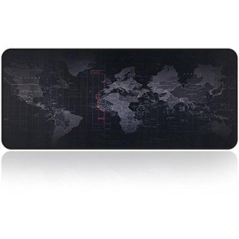 Large Gaming Mouse Map Pad With Nonslip Base Extended XXL Size, Heavy Thick, Comfy, Waterproof ; Foldable Mat For Desktop, Laptop, Keyboard, Consoles ; More Enjoy Precise ; Smooth Operating Experience