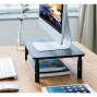 Premium PC Monitor ; Laptop Stand with Sturdy, Stable Black Metal Construction. Fashionable Riser is Height Adjustable with Non-Skid Rubber. Perfect for Computer Monitor, iMac Stand, or Computer Shelf